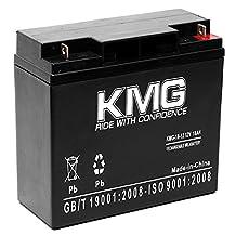 KMG 12V 18Ah Replacement Battery for YUASA NP18-12BFR NPC1712 NPH16-12