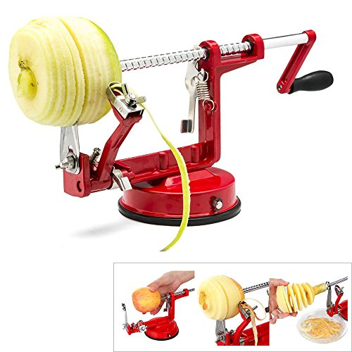 APMarket Apple Potato Peeler Heavy Duty Corer Fruit Cutter Slicing Coring Peeling Machine with Stainless Steel Blades for Home and Commercial Use