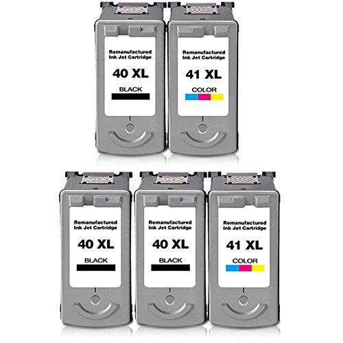 ESTON 5Pack Remanufactured Ink Cartridge for PG-40 and CL...