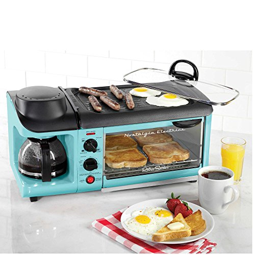 Nostalgia-Electrics-Retro-Series-3-In-1-Breakfast-Station-in-Blue-Includes-Coffee-Maker-Griddle-and-Toaster-Oven
