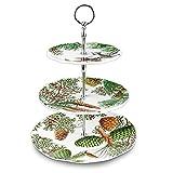 Michel Design Works SWTT257 3-Tier Adjustable Melamine Buffet Or Dessert Stand, Spruce