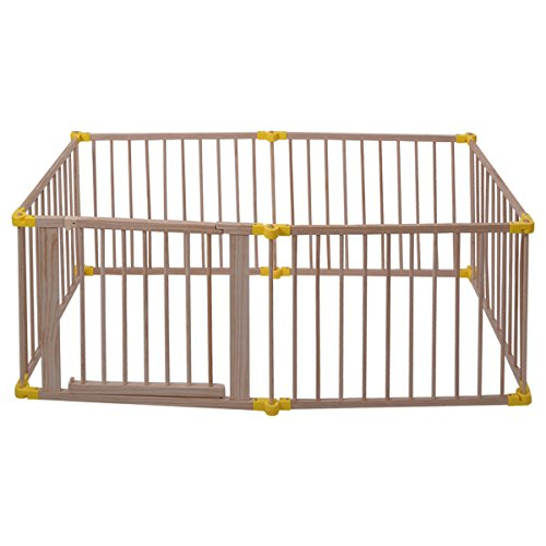 Wood Solid Pine Wood Baby Playpen With Ebook by MRT SUPPLY (Image #4)