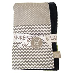 Trend Lab Multi-Patched Receiving Blanket, Perfectly Preppy