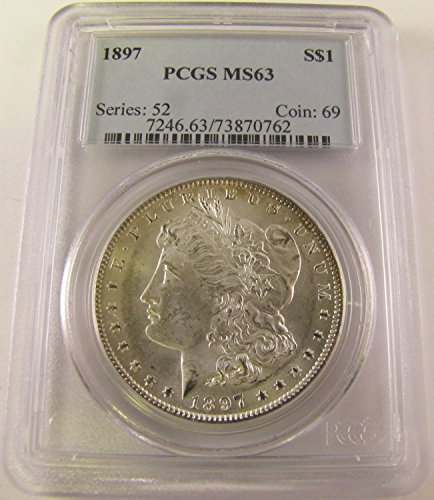 1897 Morgan Silver Dollar $1 MS63 PCGS