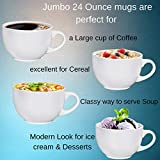Jumbo Soup Bowl and Cereal Mugs Wide Ceramic Mug