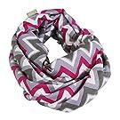 Itzy Ritzy Nursing Happens Infinity Breastfeeding Scarf, Pink Kiss Chevron