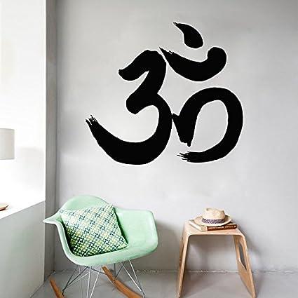 Amazon.com: Om Symbol Wall Decals Yoga Meditation Namaste Signs ...