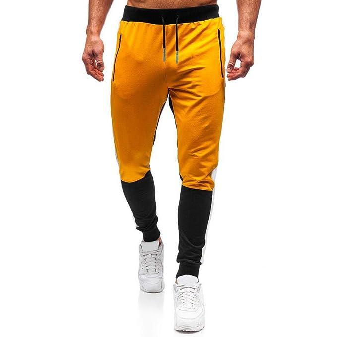 Pantalones Hombre Ocio pantalón cómodo Pants Slim fit Pantalones ...