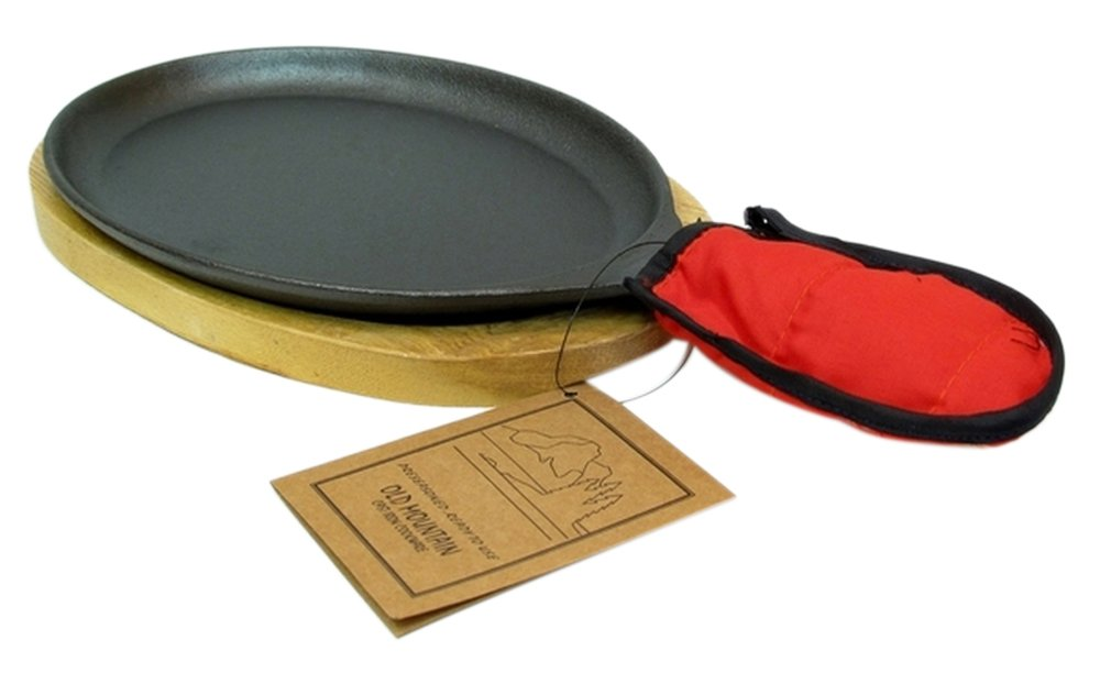 Old Mountain Cast Iron Preseasoned Fajita Set Iwgac 1200-0166-10132