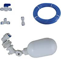 Plastic Adjustable Float Valve for Aquarium Water purifiers Reverse Osmosis System (Type1, 1/4inch)