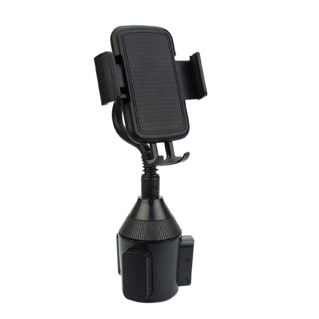 Clearance Sale! Car Adjustable Phone Holders Gooseneck Universal Cup Holder Cradle Car Mount for Cell Phone (Black)