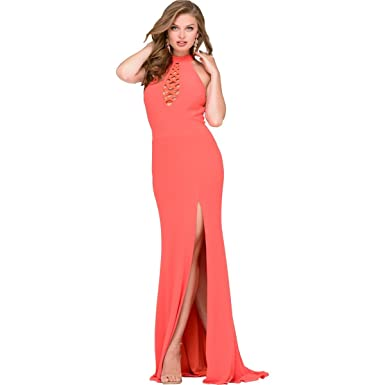 Jovani Side Slit Cut-Out Formal Dress at Amazon Women\'s Clothing store: