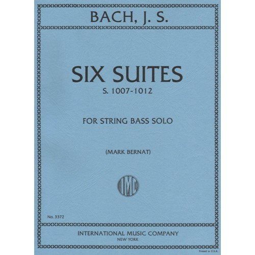 Bach Js 6 Cello Suites For Double Bass Arranged By Bernat