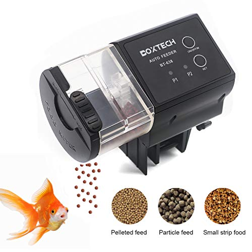 boxtech Automatic Fish Feeder, Auto Fish Food Timer Feeder-Aquarium Tank Timer Feederfor Fish Tank, Programmable Vocation Fish Food Dispenser from boxtech