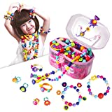 BIRANCO. Pop Beads Set - Creativity DIY Jewelry Kit - Making Hairbands, Necklaces, Bracelets and Rings Crafts Toys for 4 5 6 7 8 Year Old Girls | Ideal Birthday Xmas Gifts for Kids Age 3+ (520 PCS)