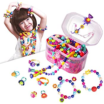 Amazon Com Pop Beads Jewelry Making Kit Arts And Crafts For