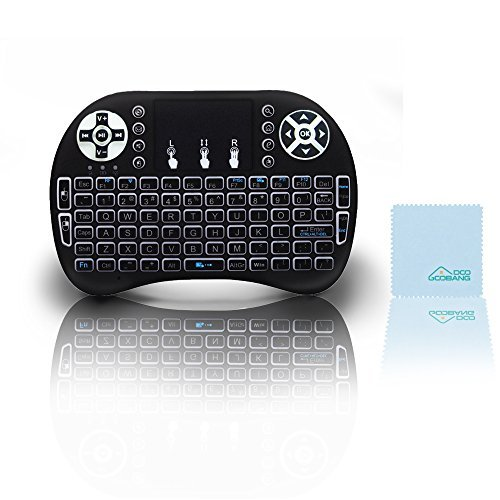 Backlit Mini Keyboard, GooBang Doo 2.4GHz Multi-media Portable Wireless Handheld Mini I9 Keyboard