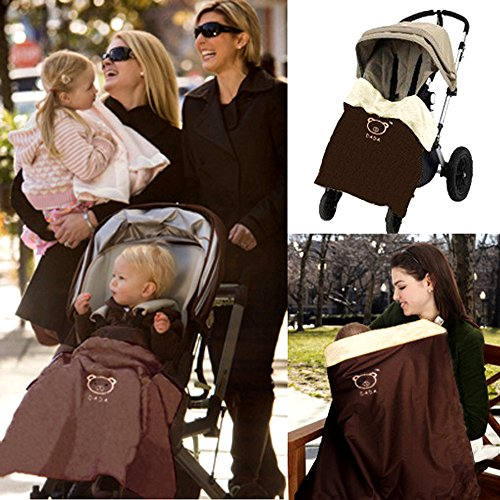 HILTOW Baby Comfort Stroller Weather Shield/Waterproof Stroller Warm Blanket Cover fit winter by Hiltow
