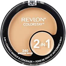 Revlon ColorStay 2-in-1 Compact Makeup & Concealer, Medium Beige