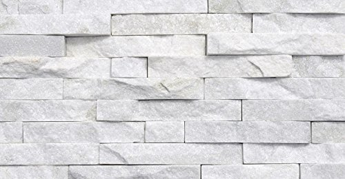 Arctic White Ledger Wall Panel 6 in. x 24 in. Natural Stone Tile - 30 pcs / 30 sqf