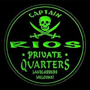 4 x ccpw1392-g RIOS de Capitán cuartos pirata diseño de calavera de cerveza 3D bebida posavasos de