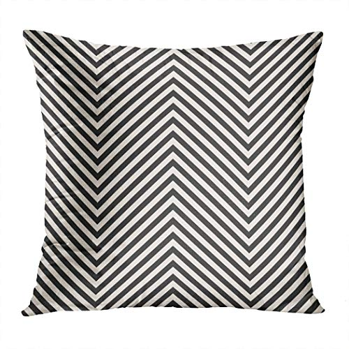 Ortrial Throw Pillow Cover Print Polyester Zigzag Stripes Seamless Pattern Chevron Decorative Sofa Bedroom Hidden Zipper Pillowcase Patio Outdoor 20 x 20 Inches (Labor Patio Sale Furniture Day)