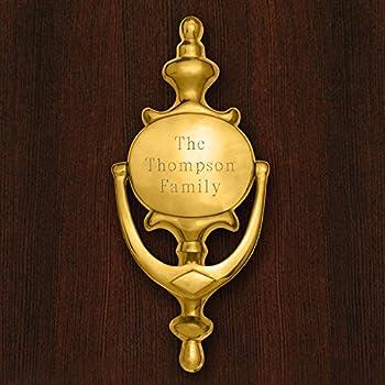Personalized Brass Door Knocker   Door Decor   Engraved Door Knocker    Brass Door Knocker