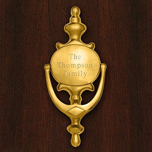Personalized Brass Door Knocker - Door Decor - Engraved Door Knocker - Brass Door (Engraved Door Knockers)