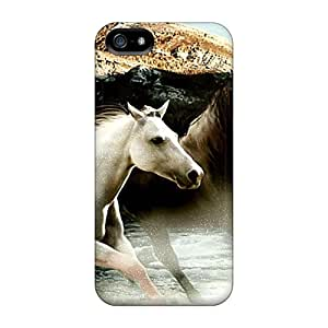 Excellent Design Brown White Horses Phone Case For Iphone 5/5s Premium Tpu Case by lolosakes