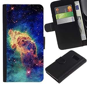 All Phone Most Case / Oferta Especial Cáscara Funda de cuero Monedero Cubierta de proteccion Caso / Wallet Case for Sony Xperia Z3 Compact // Stars Cosmos Space Blue Universe