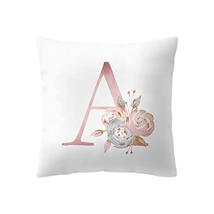 Emvency Throw Pillow Cover Square 16x16 Inches Pink Watercolour Live Laugh Love Quote with Watercolor Peony Wreath Pink Cute Flower Cute Cute Hand Polyester Decor Hidden Zipper Print On Pillowcases