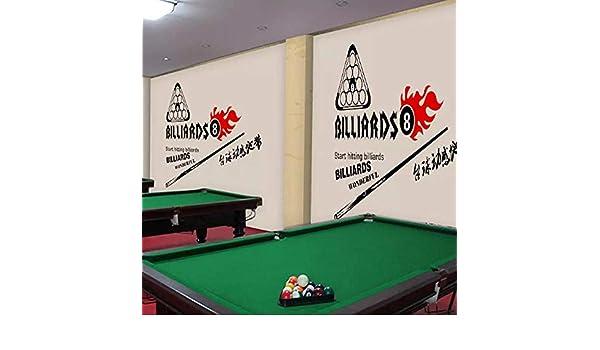 3d pintado a mano en blanco y negro sala de billar sala de billar bar entretenimiento club fondo decoración de la pared pintura mural fondo de pantalla350cm×256cm: Amazon.es: Bricolaje y herramientas