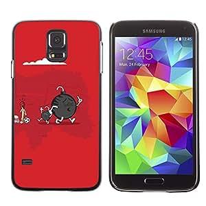 PC/Aluminum Funda Carcasa protectora para Samsung Galaxy S5 SM-G900 Funny Cute Bomb & Son / JUSTGO PHONE PROTECTOR