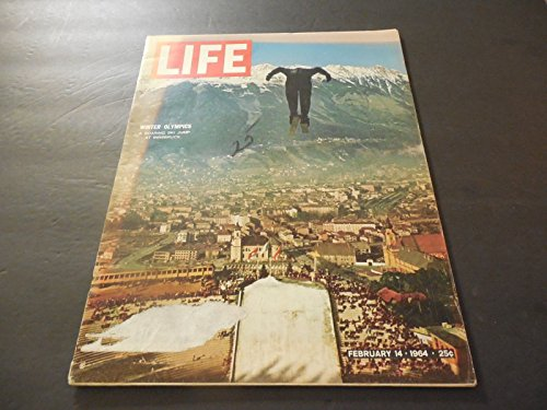Life Feb 14 1964 Innsbruck Olympics; JFK Grave Site; Ranger Spacecraft Hits Moon -