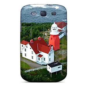 ColorCases Perfect Tpu Case For Galaxy S3/ Anti-scratch Protector Case (lighthouse Station On Newfoundl)