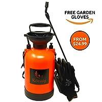 Könnig 0.8-2.0 Gallon Lawn, Yard and Garden Pressure Sprayer For Chemicals, Fertilizer, Herbicides and Pesticides with FREE Pair of Garden Gloves (2.0 Gallon)