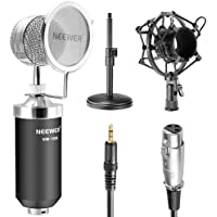 Neewer® (1)NW-1500 Professional Desktop Broadcast & Recording Condenser Microphone with Audio Cable+(1)NW-02 Iron…