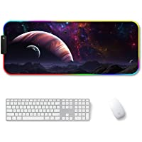 Amazer-T RGB Gaming Mouse Pad, Large Cool RGB Gaming Mouse Mat with Nylon Thread Stitched Edges & Smoothly Waterproof…