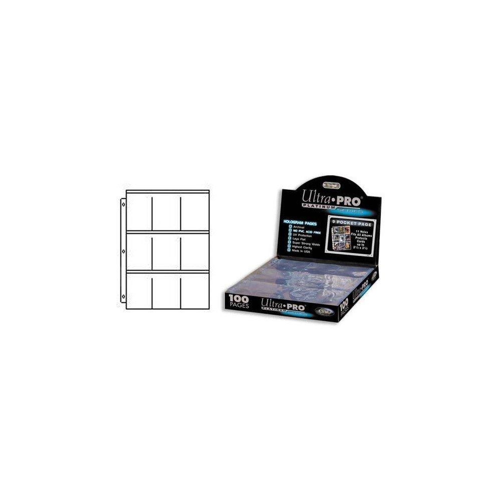White 2 x Pocket Hologram Pages (100 pcs.)