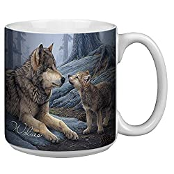 Wolf Brothers Extra Large Mug - 20-Ounce Jumbo Ceramic Coffee Cup, Wolf Themed Wildlife Art - Gift for Coffee Lovers (XM29914) Tree-Free Greetings