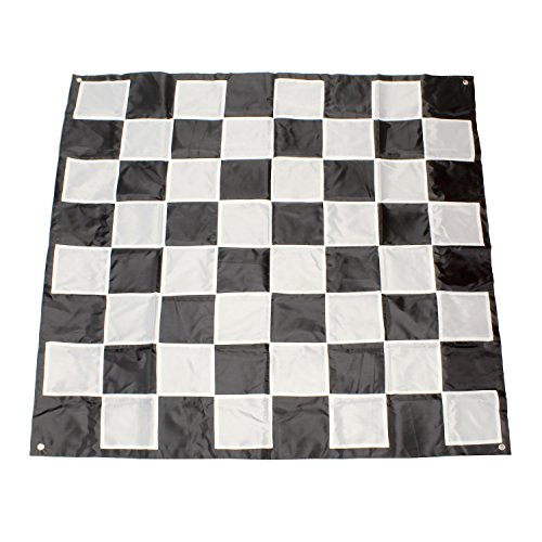 (Get Out! Giant Checkers Board Outdoor Games for Family - 9x9' Ft Plastic Checkers Rug, Big Checker Board Checkers Mat)