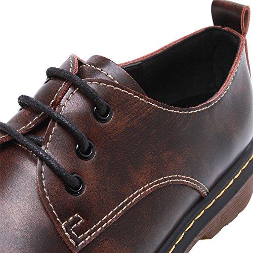 Rond Chaussures Autobloquants Classic Derby Smilun Lacets Basses Femme Bout 71q8XPWnC