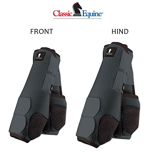 Classic Equine L- 4 PACK STEEL GREY LEGACY HORSE FRONT REAR HIND SPORT BOOT by Classic Equine