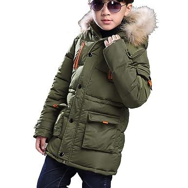 Amazon.com: Baseu - Chaqueta de invierno con capucha de pelo ...