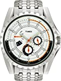 Timex Men's Quartz Watch with White Dial Analogue Display and Silver Stainless Steel Bracelet T2M431AU