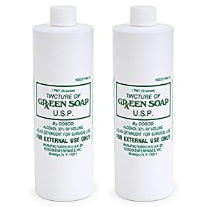 Cosco Tincture of Green Soap Twin U.S.P. Medical Tattoo Cleanser, 16 Fluid Ounce