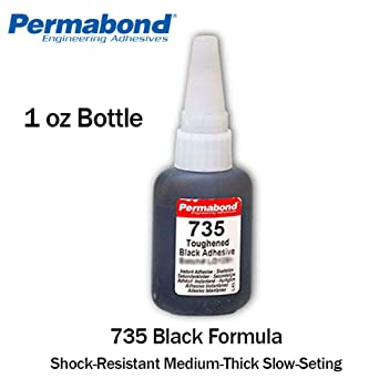 Permabond 737 1oz Bottle Black Magic Toughened Flexible Temp-resistant Gel