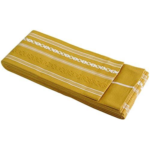 KYOETSU Men's Japanese Kaku Obi Kimono belt Cotton (Gold) (Gold Kimono Japanese)