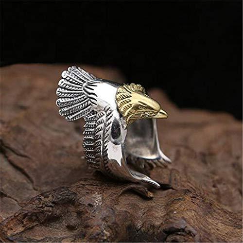 - CHASIROMA Eagle Men Ring Stainless Steel Vintage American US Eagle Stainless Steel Men Ring Size 8-12