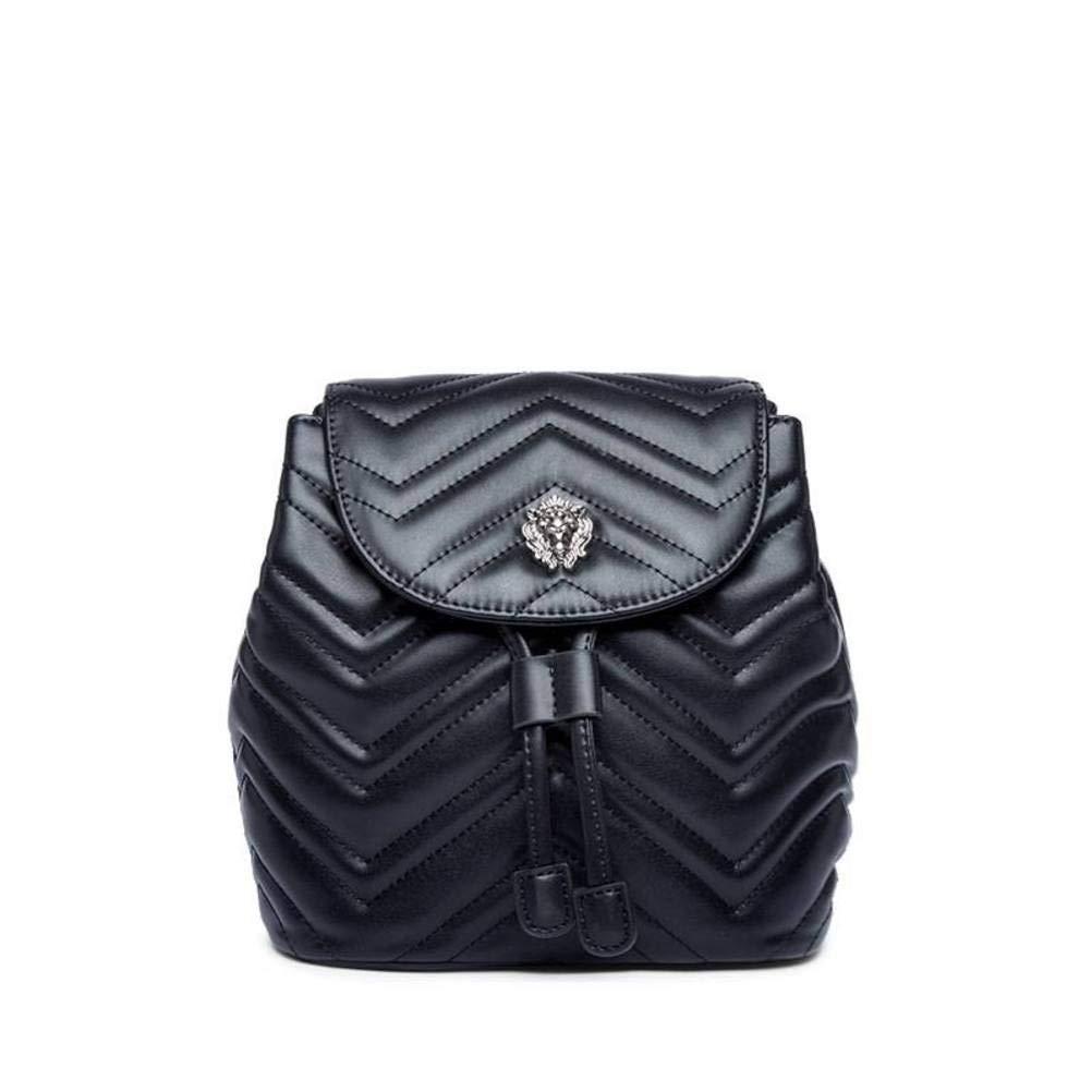 Schwarz YT-ER Rucksack Weibliche Rucksackart und Weiserucksackhandtaschen-Tendenz-Taschenfrau